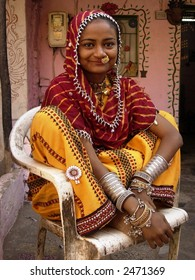 a young village woman posing in india