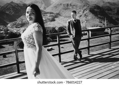 Young wedding couple in Georgia