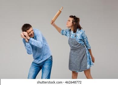 Wife beating her husband