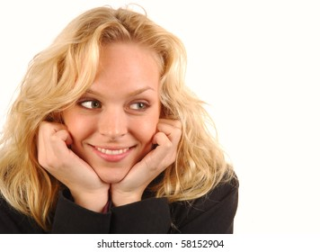 Young woman with beautiful smile.