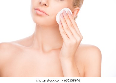 Young woman beauty and spa skin care