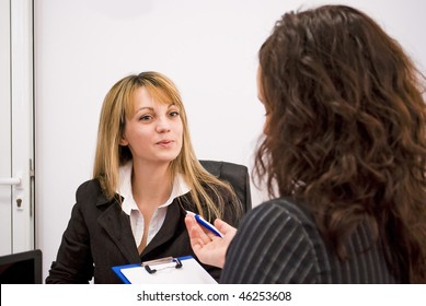 young woman being interviewed for a job - interview feedback