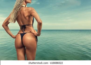Hot beach girl