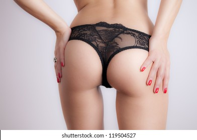 Young Woman Butt
