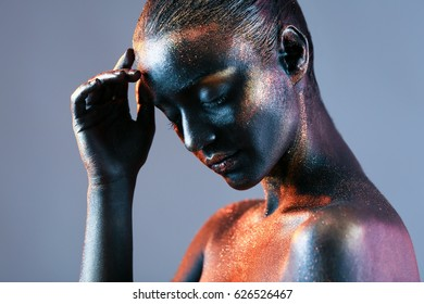 Glitter Body Painting Stock Photos Images Photography Shutterstock