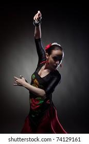 Flamenco Castanets Dancing Girl Dancer Sticker
