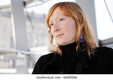 Young woman deep in thoughts