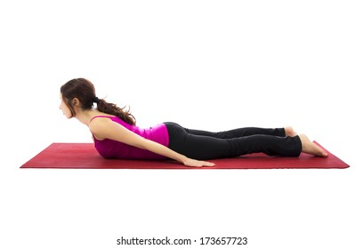 Young woman doing yoga and pilates  (Series with the same model available)
