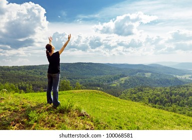 Young woman enjoying the fresh air.