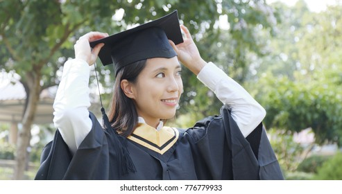 Young woman get graduation