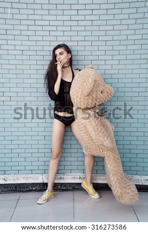 Teens in blue teddy