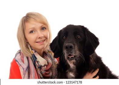 Young woman with her dog / Woman and Dog