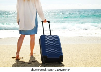 Tropical Beach Vacation Ocean View Luggage Card Suitcase Carry-On ID Tag