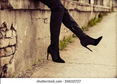 8be8d422fe3 High Heel Boots Images, Stock Photos & Vectors | Shutterstock