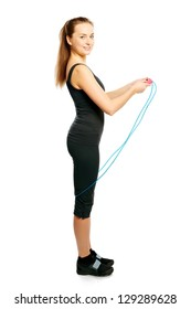 Young woman with a jump-rope