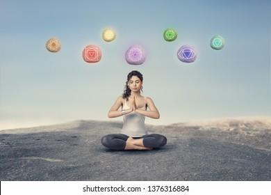 Imágenes, fotos de stock y vectores sobre Meditate Levitate