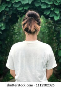 young woman looking for nature.