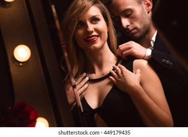 Young woman loves getting new jewellery