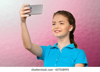 Young woman making a selfie