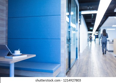 Young woman in modern stylish office