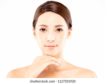 young woman with natural makeup and clean skin