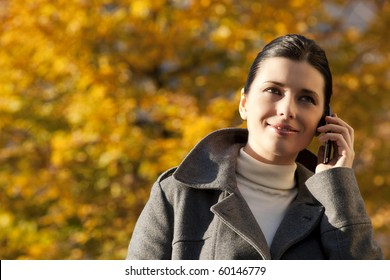 Young woman on the mobile phone