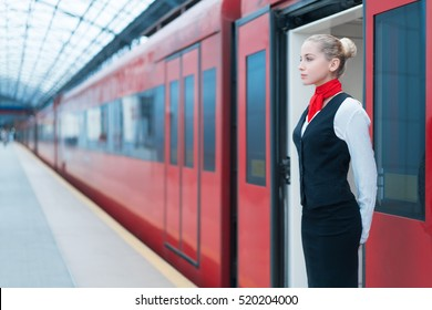 Young woman on platform