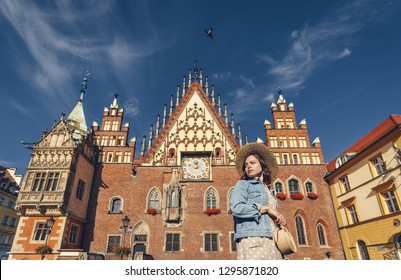 Young woman on a sunny day in Wroclaw