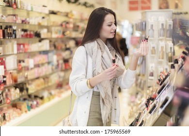 Young woman in perfumery