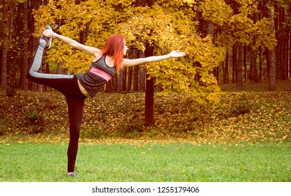 Young woman practice exercise in park