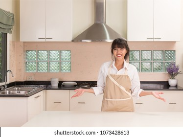 Young woman preparing cooking in the modern kitchen style