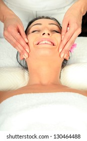 Young woman receiving massage - SPA