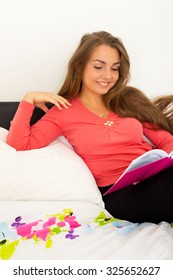 young woman relaxing at home