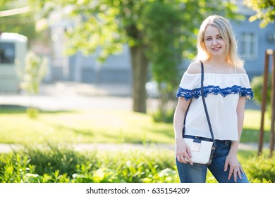 Young woman resting in the park