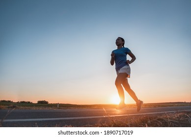 Young woman with runner on the street be running for exercise.