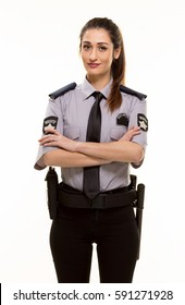 Young Woman Security Guard