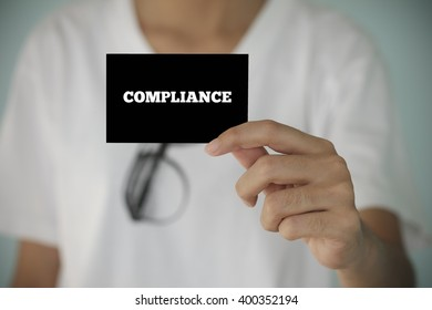 young woman show COMPLIANCE  , business idea