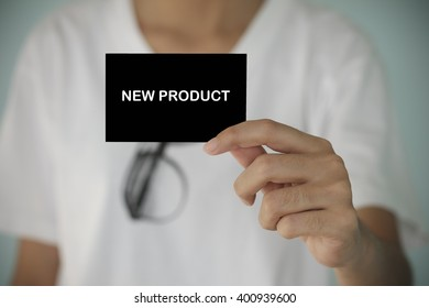 young woman show NEW PRODUCT , business idea