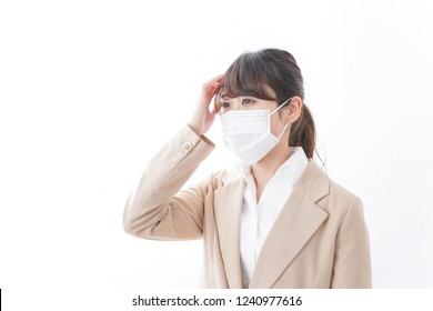 Young woman sick