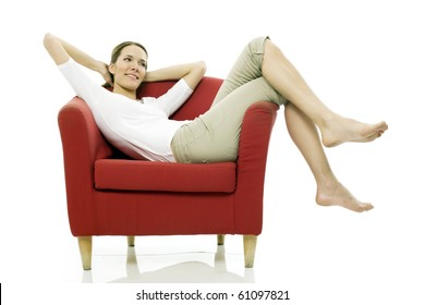 Person Relaxing In Chair Stock Photos Images