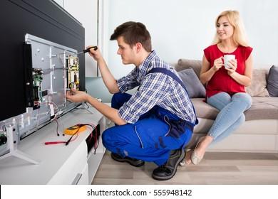 Tv Repair Images, Stock Photos & Vectors | Shutterstock