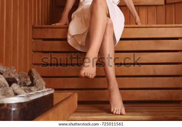 Phenomenal Young Woman Sitting On Wooden Bench Stock Image Download Now Ocoug Best Dining Table And Chair Ideas Images Ocougorg