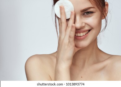 young woman, skin care, face cream, natural beauty