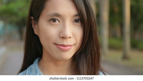 Young woman smile to camera