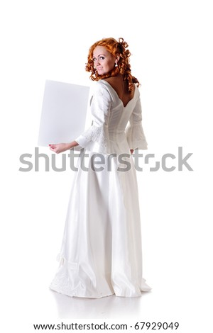Young Woman Snowy Wedding Dress Show Stock Photo (Edit Now) 67929049 ...