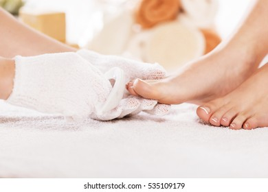 Young woman in the spa.