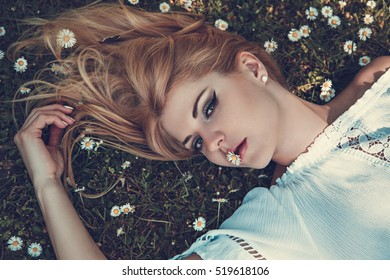Young Woman With Spring Feelings