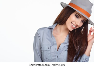Young Woman with spring hat