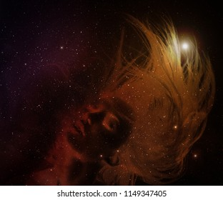 Young woman with stars in her hair.