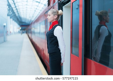 Young woman at the station